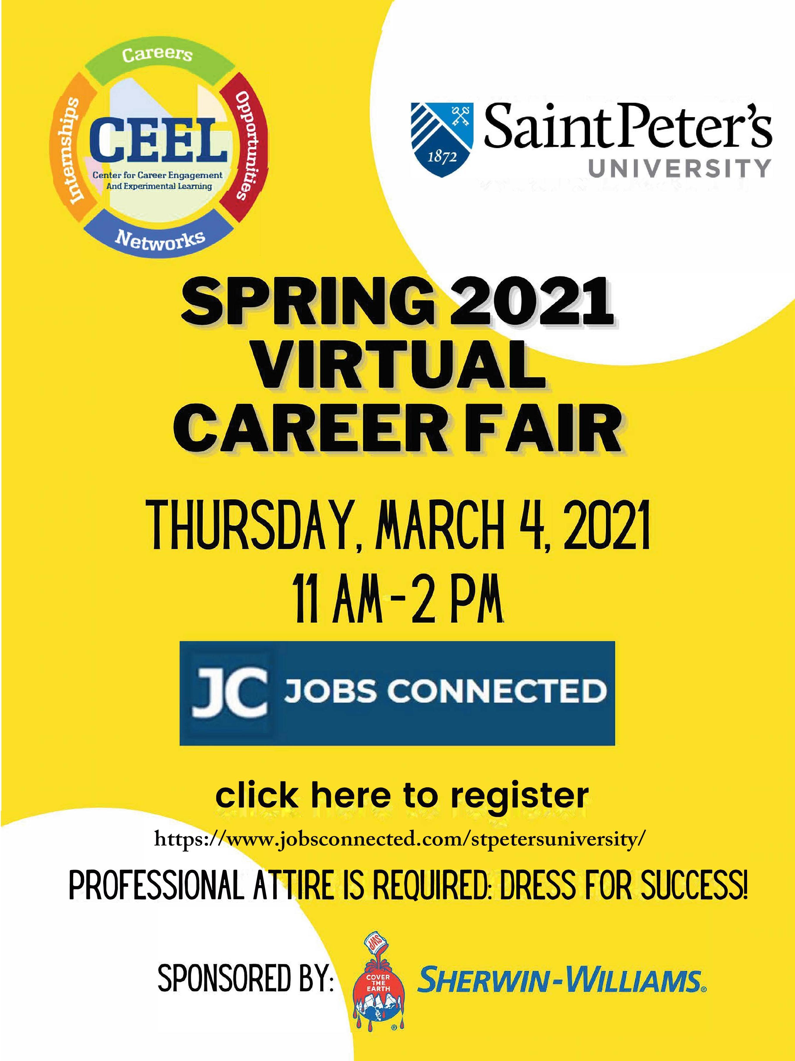 career & internship fair flyer