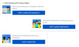 Build resume screen view