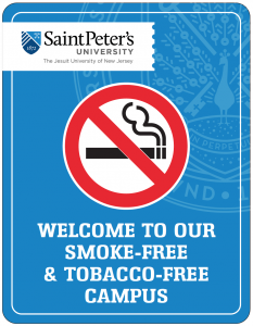 non-smoking campus sign