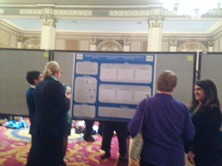 Research Poster with Visitors