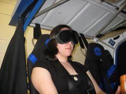 student in simulator