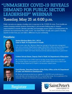 """UNMASKED! COVID-19 REVEALS DEMAND FOR PUBLIC SECTOR LEADERSHIP"" WEBINAR"