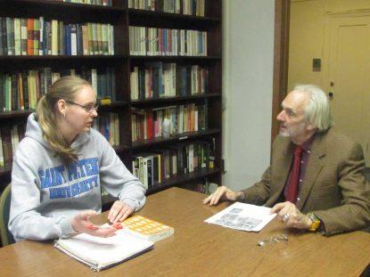Student with Professor (Anna Kosakowski Dr Raymond Conlon)