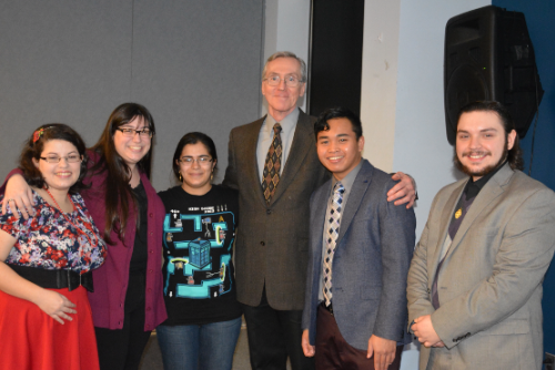 Dr. Walsh and students