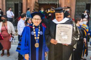 Dr. Cornacchia and Martin Luther King III, Michaelmas Convocation 2021