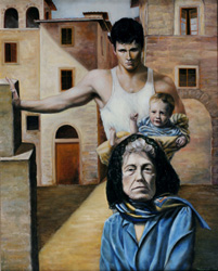 three ages oil painting
