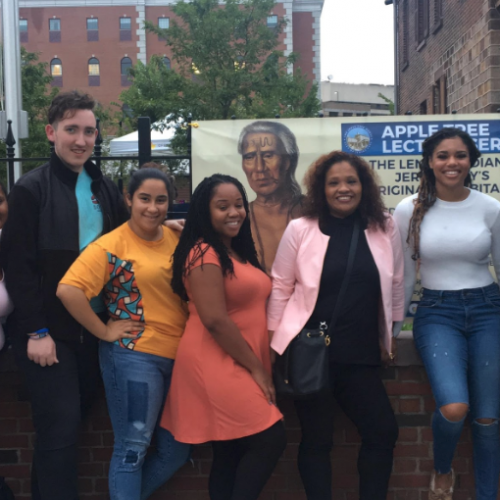 Saint Peter's Students at the Jersey City Apple Tree House